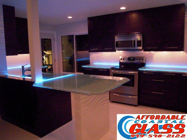 costa mesa custom kitchen affordable coastal glass