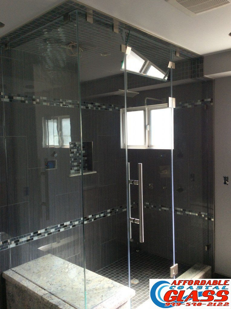 custom frameless shower newport beach