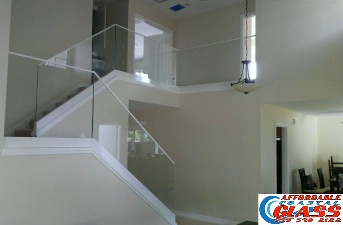 Custom Glass Stair Railing Orange County